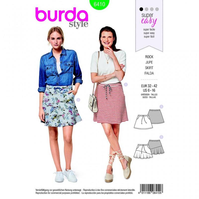 Patron Burda Style 6410 Jupe Taille 32/42