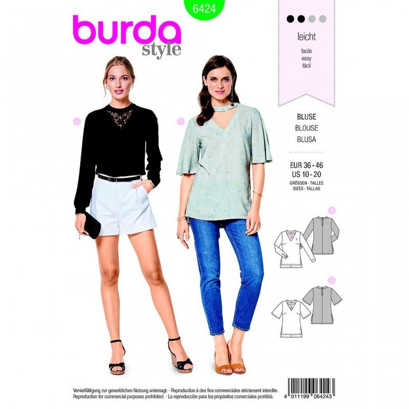 Patron Burda Style 6424 Blouse Taille 36/46