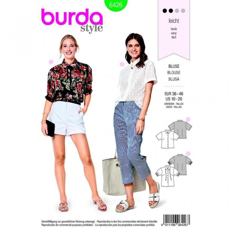 Patron Burda Style 6426 Blouse Taille 36/46