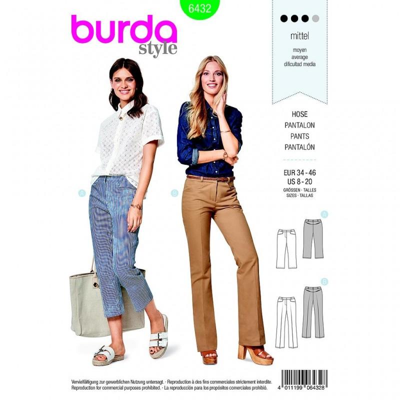 Patron Burda Style 6432 Pantalon Taille 34/46
