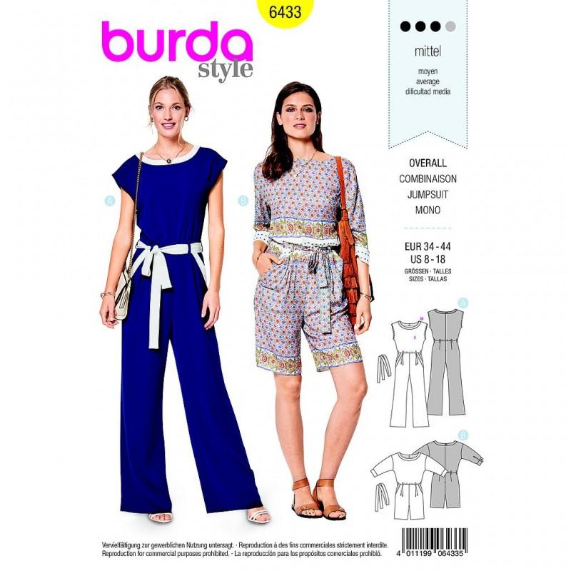Patron Burda Style 6433 Combinaison Taille 34/44