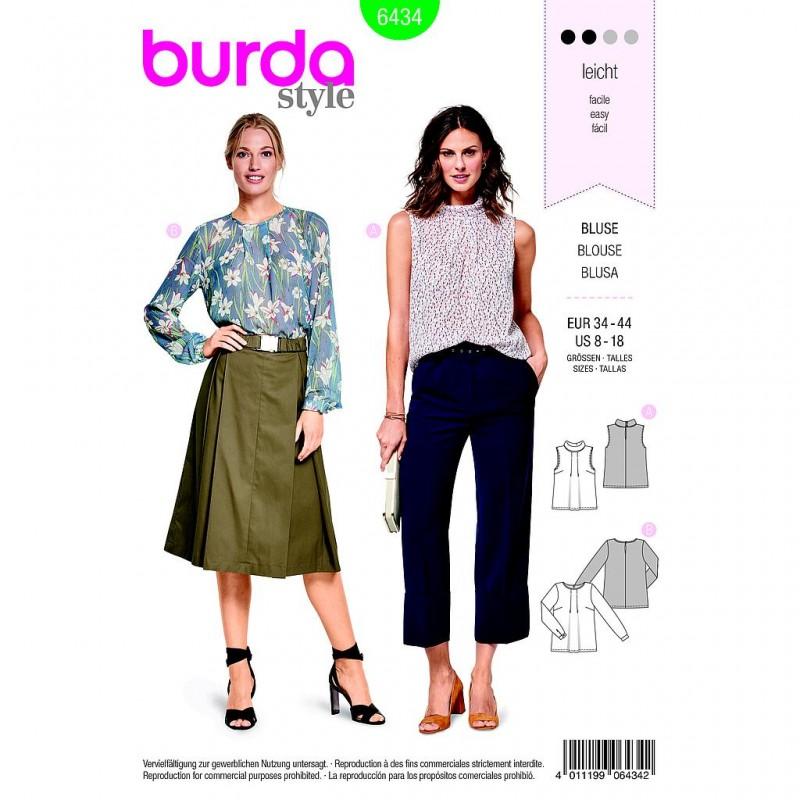 Patron Burda Style 6434 Blouse Taille 34/44