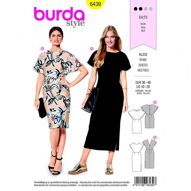 Patron Burda Style 6439 Robe Taille 36/46