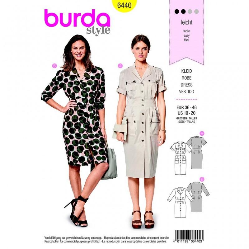 Patron Burda Style 6440 Robe Taille 36/46