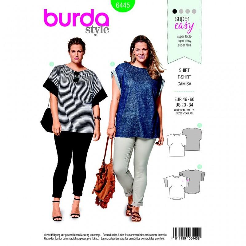 Patron Burda Style 6445 Tee Shirt Taille 46/60