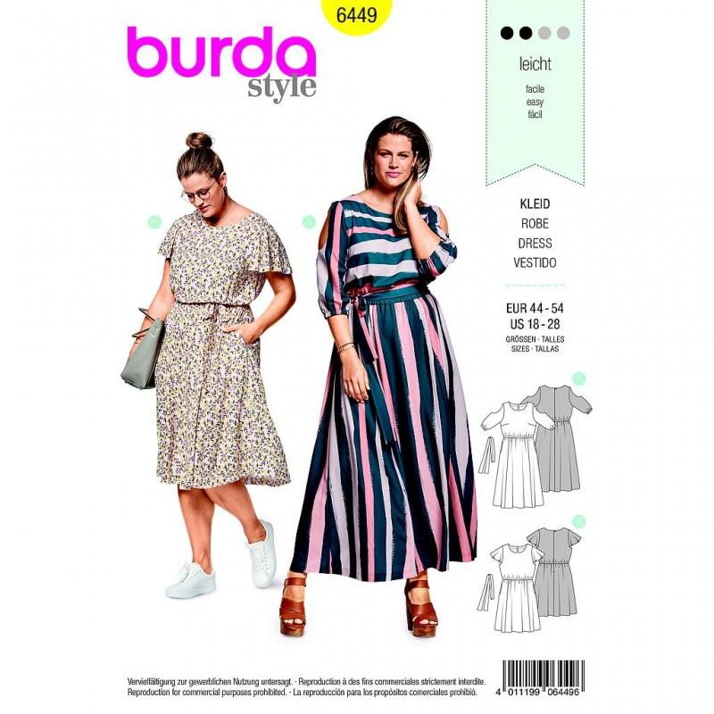 Patron Burda Style 6449 Robe Taille 44/54