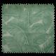 Tissu Totem 1/2 Natte Vert Fond Crème