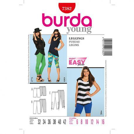 Patron Burda Style 7382 Young Fuseau 32/42