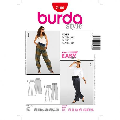 Patron Burda Style 7400 Pantalon 34/60