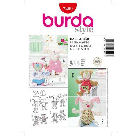 Patron Burda Style 7409 Lapin et Ours