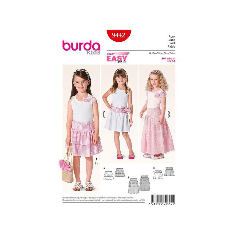 Patron Burda Kids 9442 Jupe 92/134