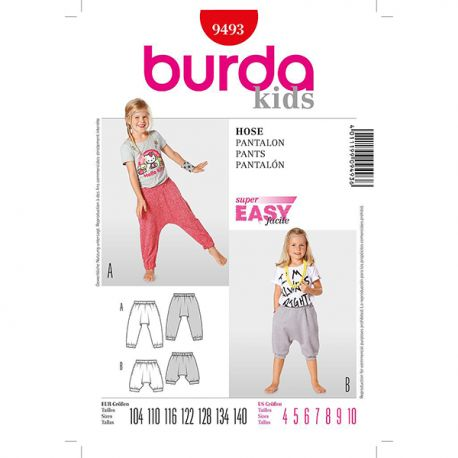 Patron Burda Kids 9493 Pantalon 104/140