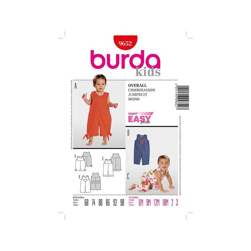 Patron Burda Kids 9652 Combinaison 68/98
