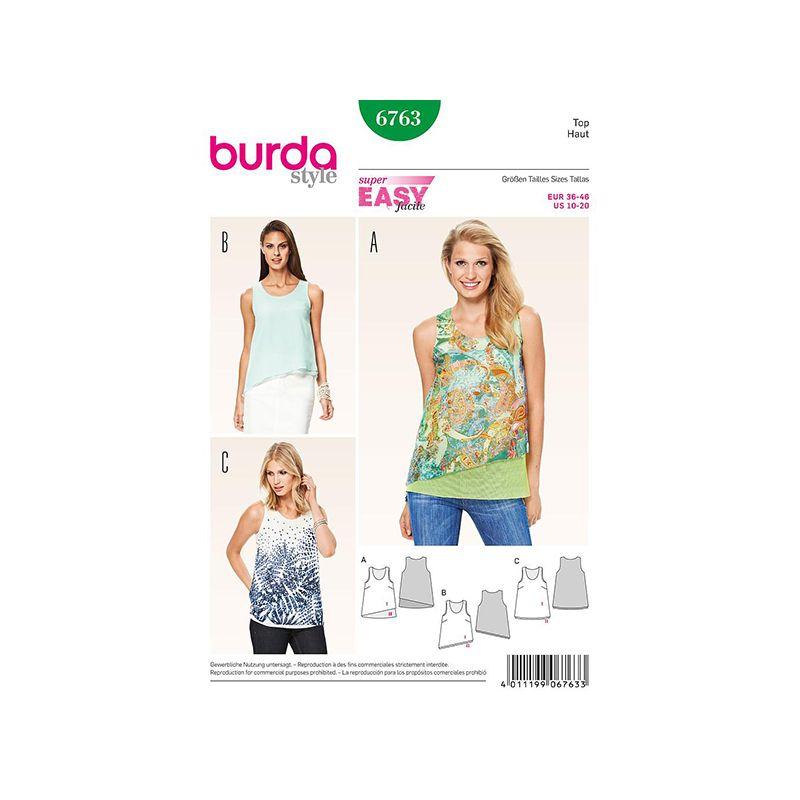 Patron Burda Style 6763 Débardeur 36/46