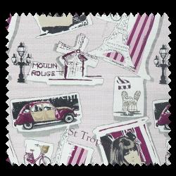 Tissu Jacquard Twigy Saint-Tropez Moulin Rouge