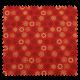 Tissu Coton de Noël Imprimé Flocon Fond Rouge