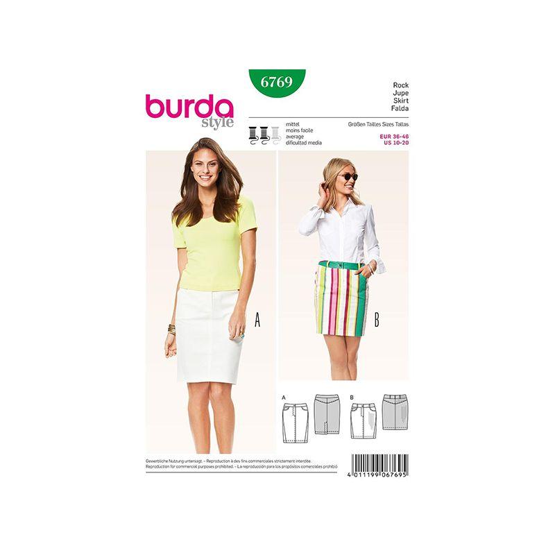 Patron Burda Style 6769 Jupe 36/46