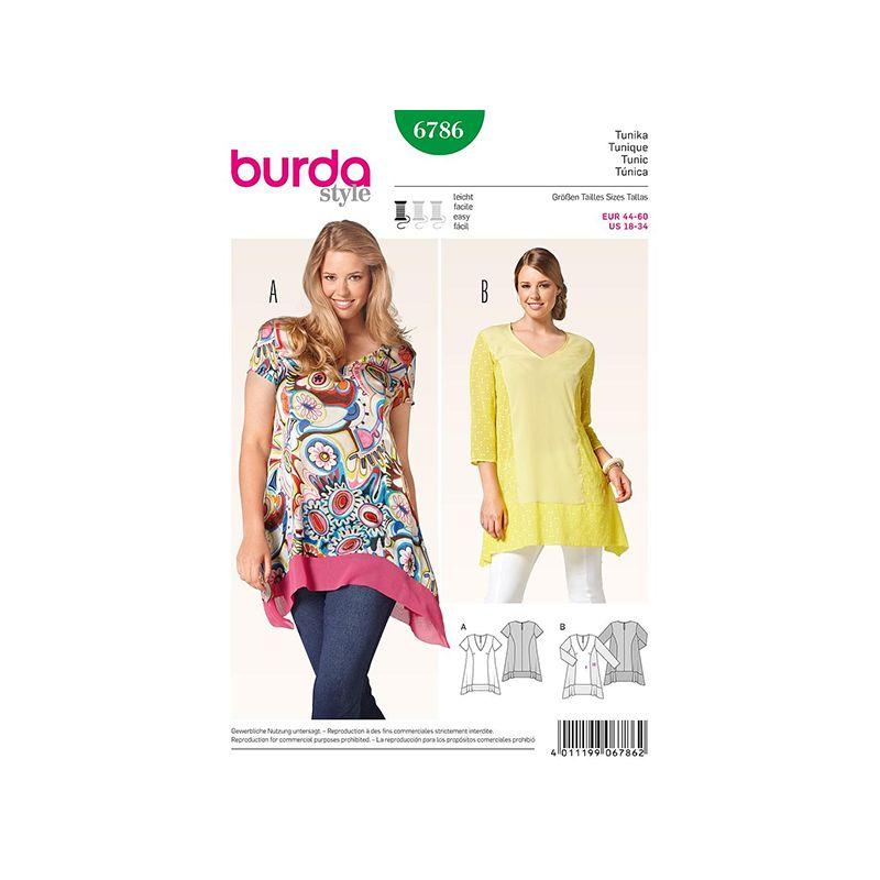Patron Burda Style 6786 Tunique 44/60