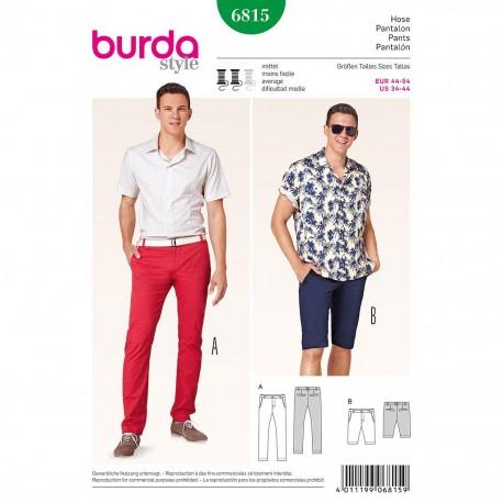 Patron Burda Style 6815 Pantalon et Short Homme 44/54