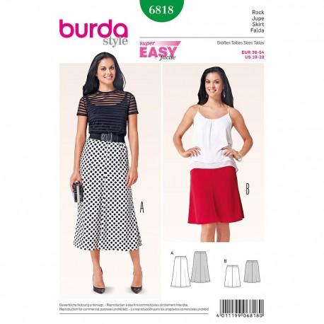Patron Burda Style 6818 Jupe 36/54