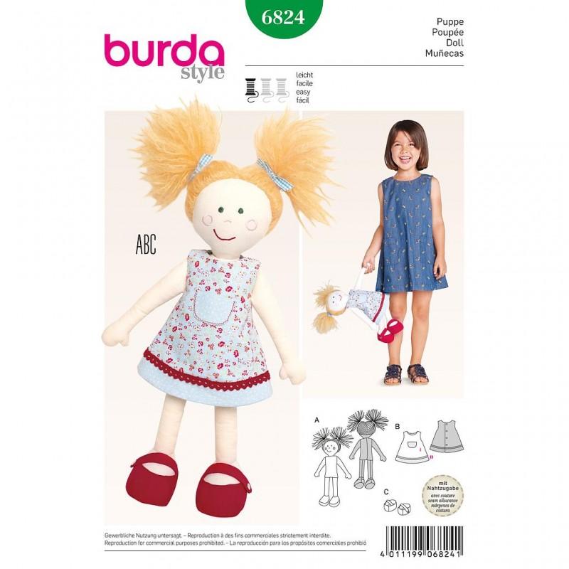 Patron Burda Style 6824 Poupée