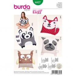 Patron Burda Style 6827 Coussins Animaux
