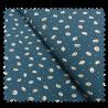 Tissu Crêpe Feuille Bleu Imprimé