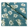 Tissu Voile Fleur Bleu Imprimé