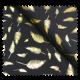 Tissu jersey Marine Plume Or