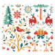 Tissu Laponie Imprimé Tradition Or