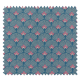 Tissu Eventail Bleu Vert