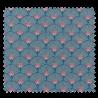 Tissu Toile Eventail Bleu Vert