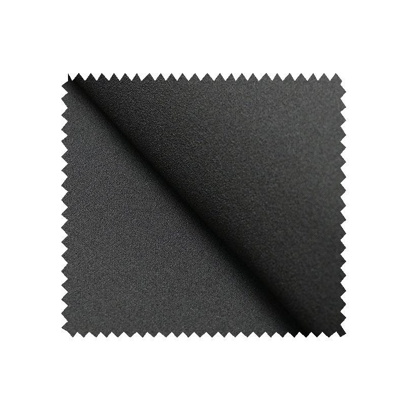 Tissu Crepe Scuba Uni Noir