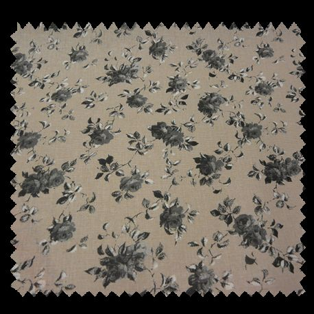 Tissu Betty Gris Cretonne