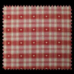 Tissu Cervinprint Enduit Lin Rouge