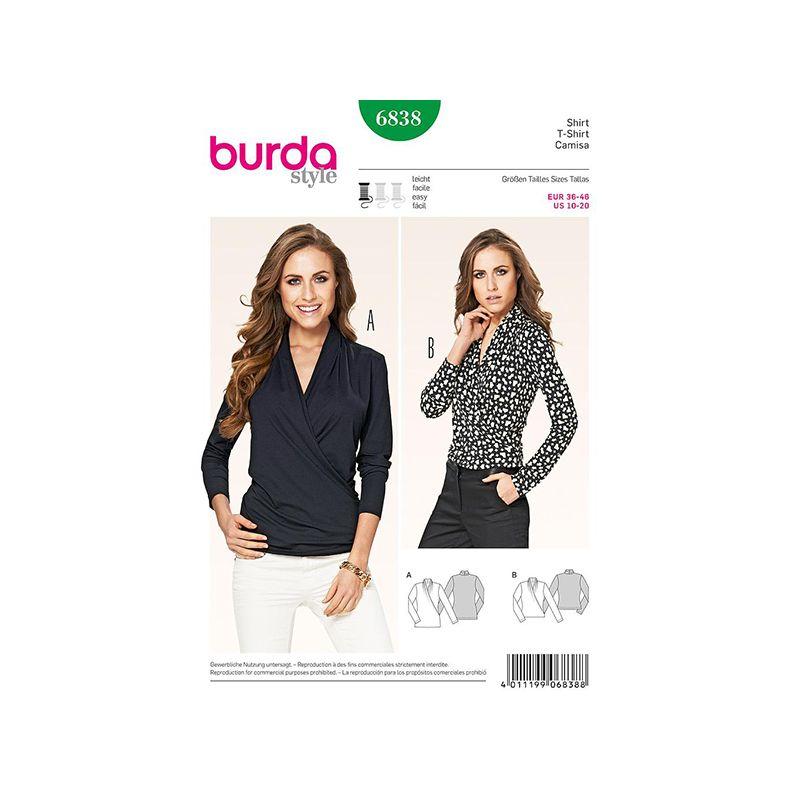 Patron Burda Style 6838 Tshirt 36/46