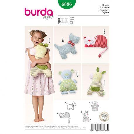 Patron Burda Style 6886 Coussins