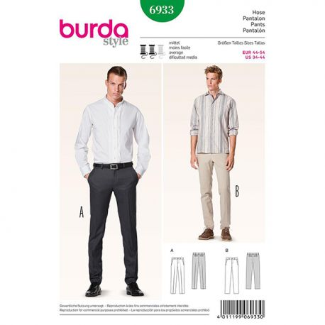Patron Burda Style 6933 Pantalon 44/54