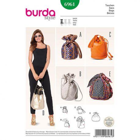 Patron Burda Créative 6961 Sacs
