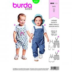 Patron Burda Kids 9337 Salopette Taille 62/92CM
