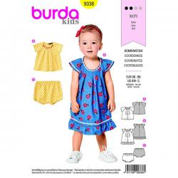 Patron Burda Kids 9338 Blouse Culotte Taille 68/98CM