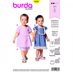 Patron Burda Kids 9339 Blouse Culotte Taille 68/98CM