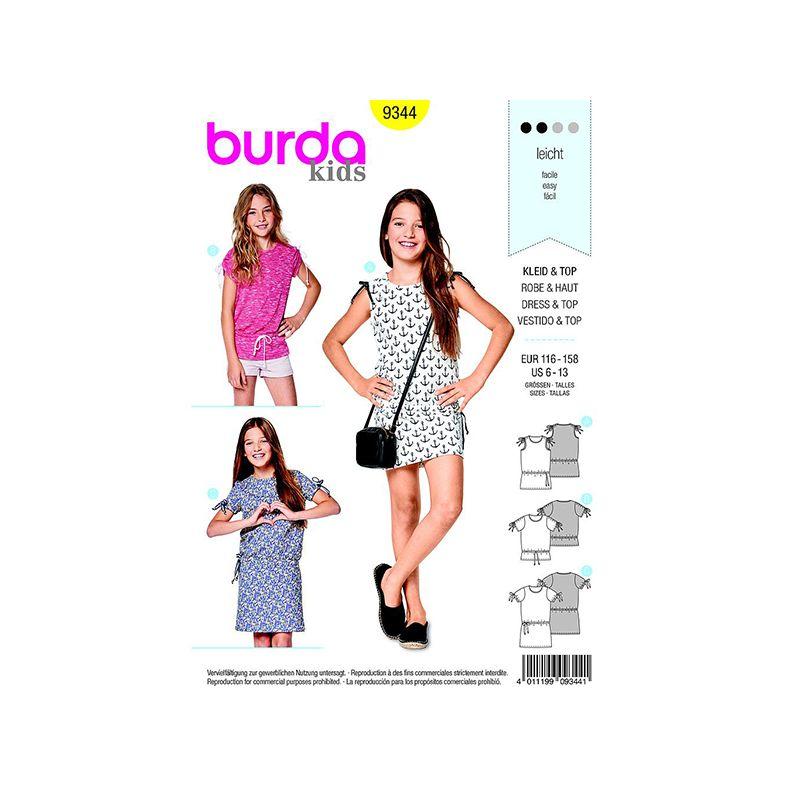 Patron Burda Kids 9344 Robe Taille 116/158CM