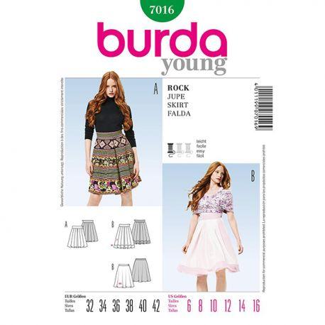 Patron Burda Style 7016 Jupe 32/42