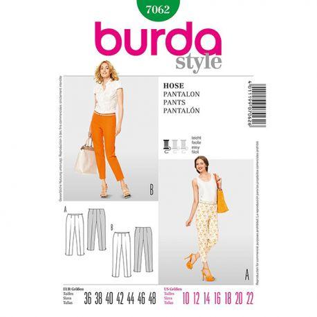 Patron Burda Style 7062 Pantalons Dames 36/48