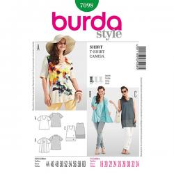 Patron Burda Style 7098 T-Shirt 44/60