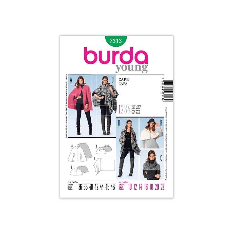 Patron Burda Style 7313 Cape 36/48