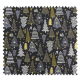 Tissu Jacquard Celebration Allover Graphite Or