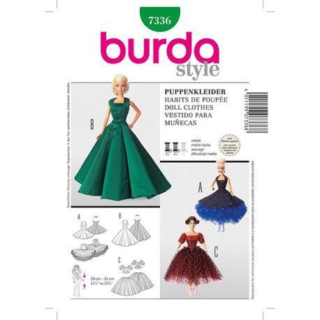 Patron Burda Style 7336 Robe de Poupée