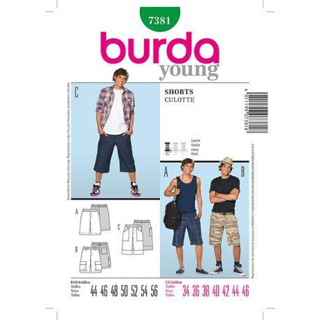 Patron Burda Style 7381 Young Short 44/56